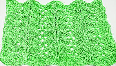 3 -Crochet.Imagen puntada a crochet para la cobija a relieve.Majovel Crochet Ganchillo