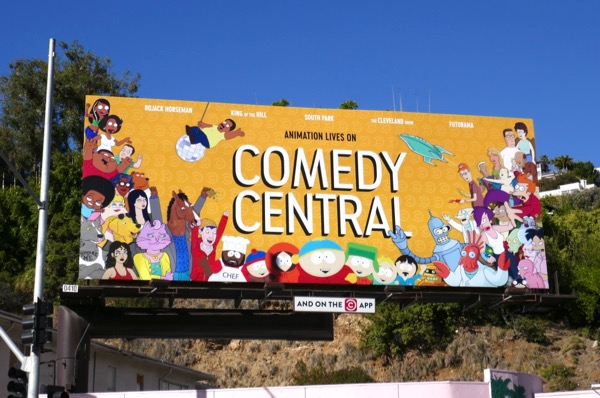 Animation Lives on Comedy Central billboard