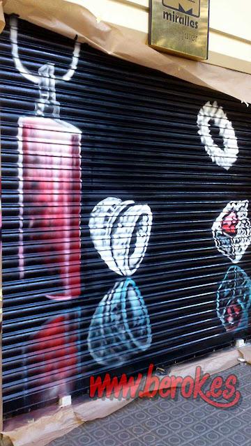 graffiti persiana joyería