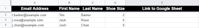 Bulk create Google Sheets from a Sheet of data by looping through each row.