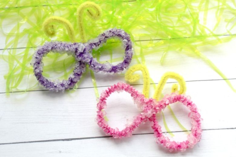 crystal butterfly craft