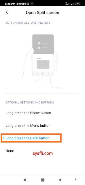 Split screen Redmi Note 8 Pro