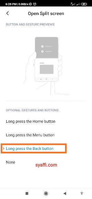 Split screen Xiaomi Redmi Note 8 Pro