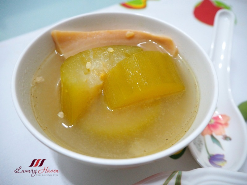 hairy gourd soup with dried conch slices recipe