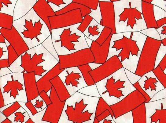 Country Crafts And Curtains Quilt Shop Fredericton Canada Flag Print