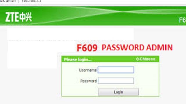 Cara Hack ZTE F609