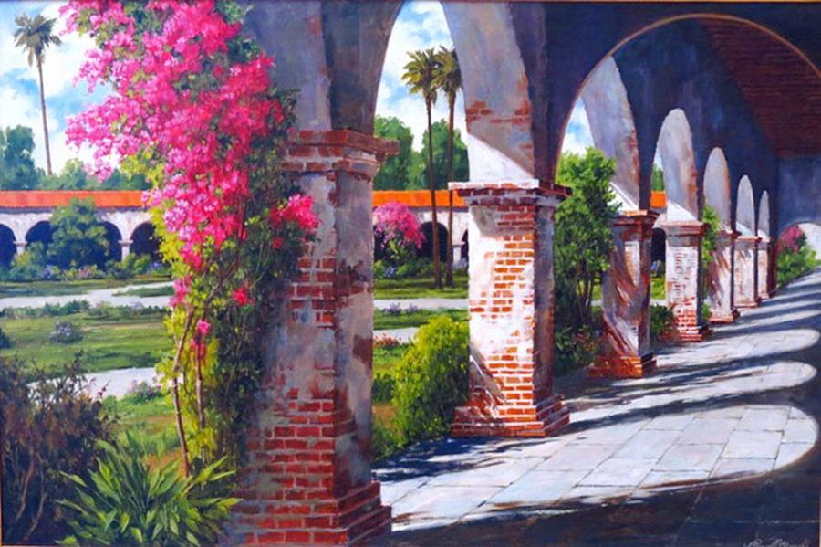 Im genes arte pinturas cuadros paisajes coloniales y for Imagenes de cuadros abstractos rusticos