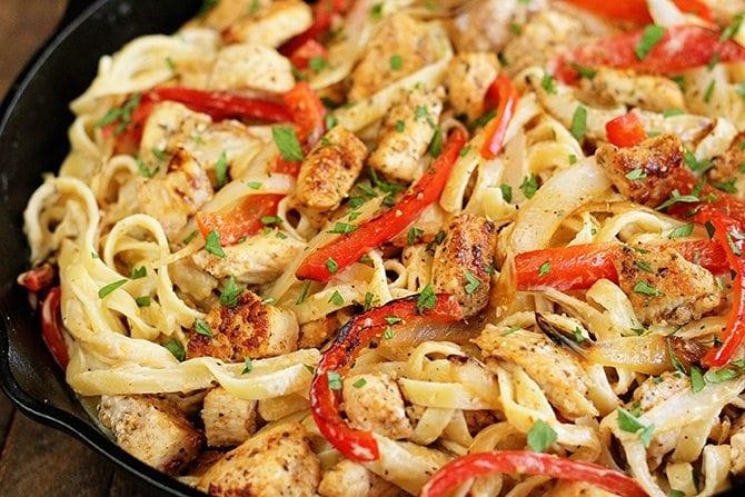 CAJUN CHICKEN PASTA #chicken #dinner