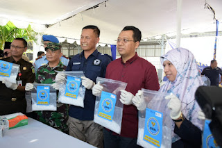 Gubernur dan Kepala BNN NTB Musnahkan BB Narkoba Jenis Sabu Senilai Rp4 Milyar