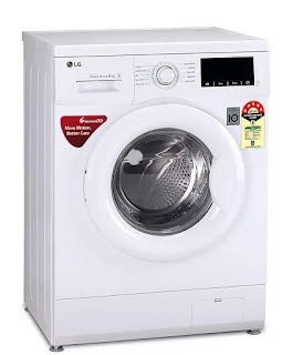 LG 6.0 Kg 5 Star Inverter Front Loading Fully-Automatic Washing Machine - FHM1006ADW with Direct Drive Technology | Best Washing Machines in India