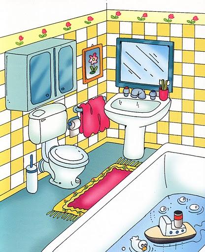 Imagenes habitaciones casa para imprimir imagenes y - Laminas para cuartos de bano ...