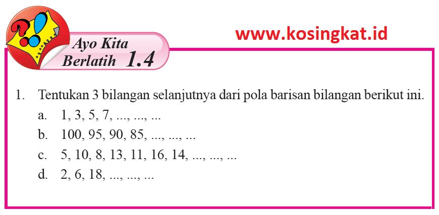 Persamaan garis lurus matematika kelas 8 bse k13 rev 2017 ayo. Kunci Jawaban Matematika Kelas 8 Halaman 22 23 Ayo Kita Berlatih 1 4 Kosingkat