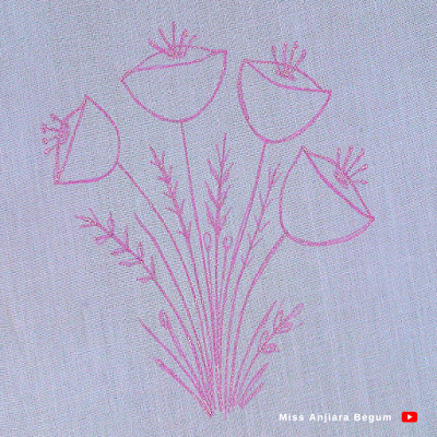 Hand drawing pattern for beginners, how to draw a design, How to draw on cloth