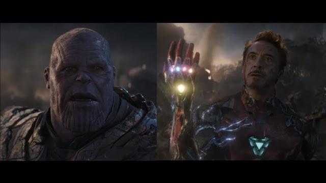 Scared Thanos in Marvel(Tony stark)