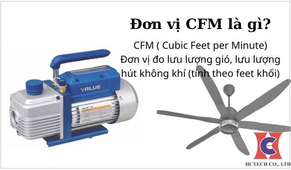 Đơn vi CFM là gì? Cách chuyển đổi từ CFM sang m3/phút