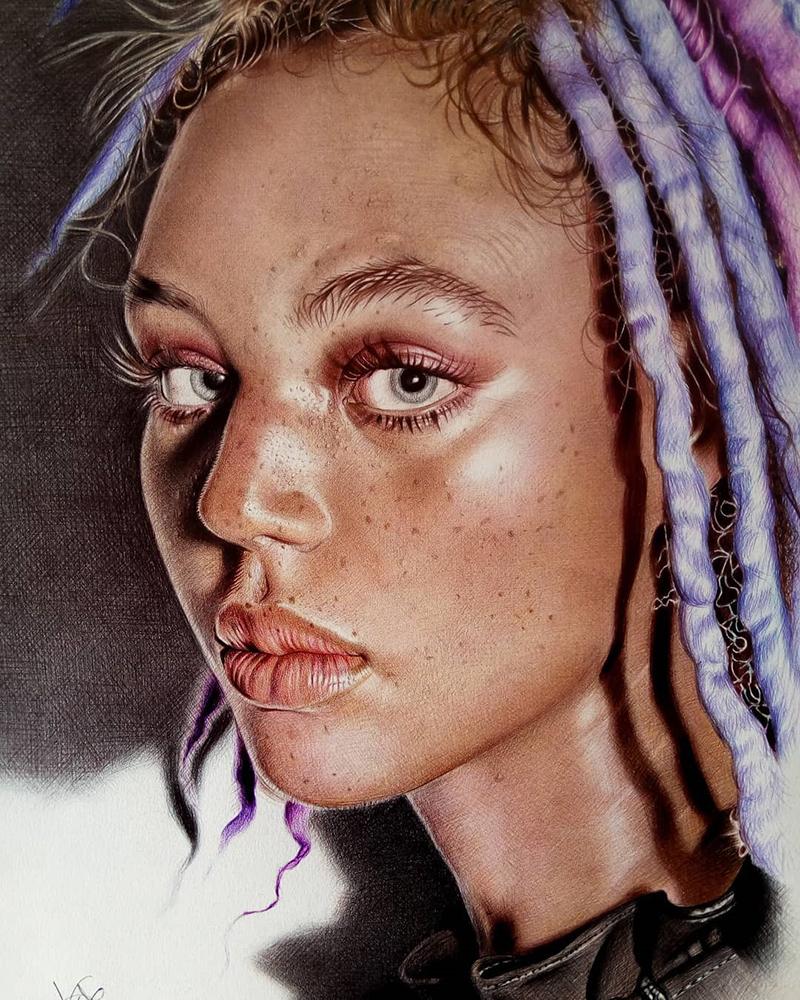 Dilia Martins ballpoint pen artwork