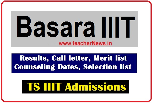 Basara IIIT Selection List 2020 – List of Candidates Selected for counseling @ rgukt.ac.in
