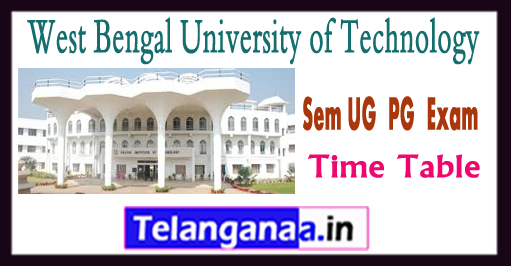 WBUT 1/3/5/7 Odd Sem UG  PG  Exam Time Table 2018
