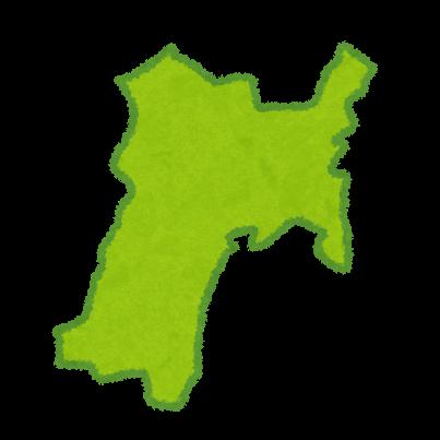 東北地方6県の地図のイラスト(都道府県) | かわいいフリー素材集 いらすとや