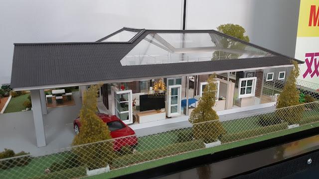 Model Rumah Banglo 4 Bilik di Batu Gajah Perak