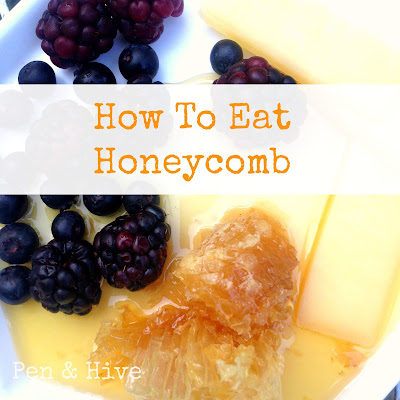honeycomb with berries