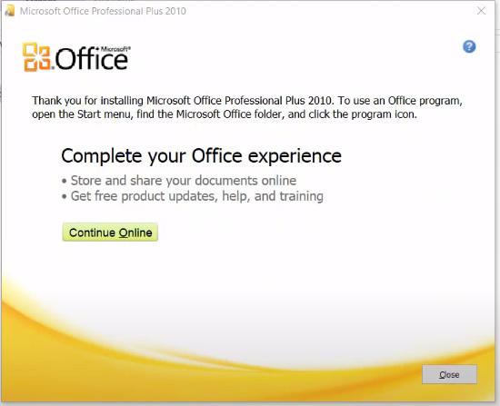 Hướng dẫn Cài đặt Microsoft Office 2010 Full d