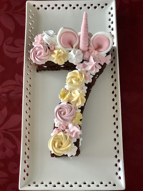 pastel De Cumpleaños Número 7