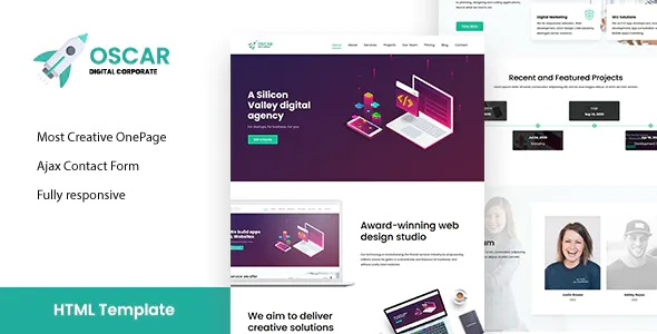 Best One Page Corporate, App, Startup Responsive HTML Template