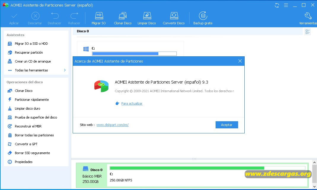 AOMEI Partition Assistant Full Español 2021