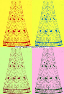 Party wear lehenga design paper, lehenga design drawing for Embroidery, weeding lehenga design images