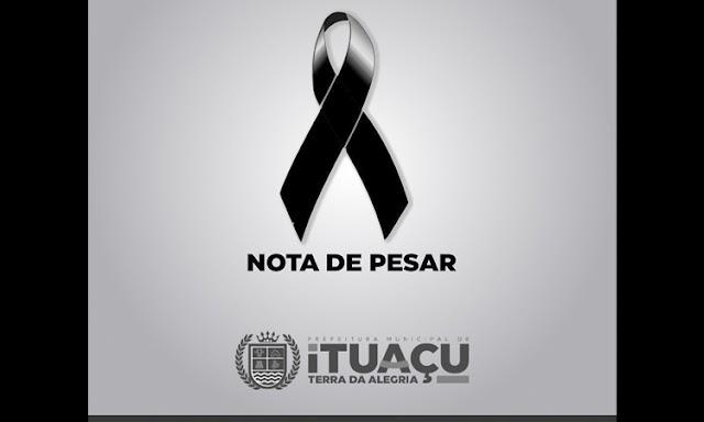 Prefeitura de Ituaçu emite nota de pesar pelo falecimento da senhora Maria Regina Cedraz Silva