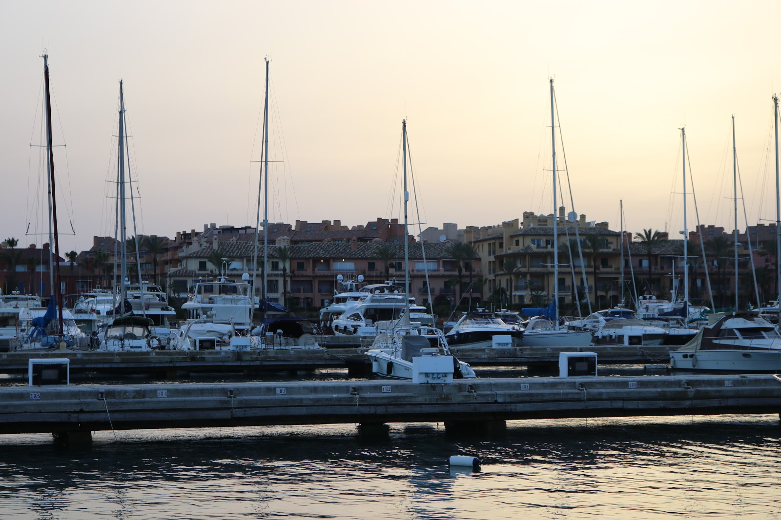 Boats in the Harbour, in the Sotogrande Puerto, Spain
