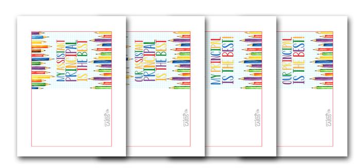 Printable Principal Cards