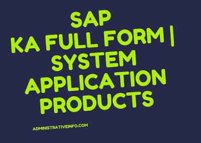 sap ka full form