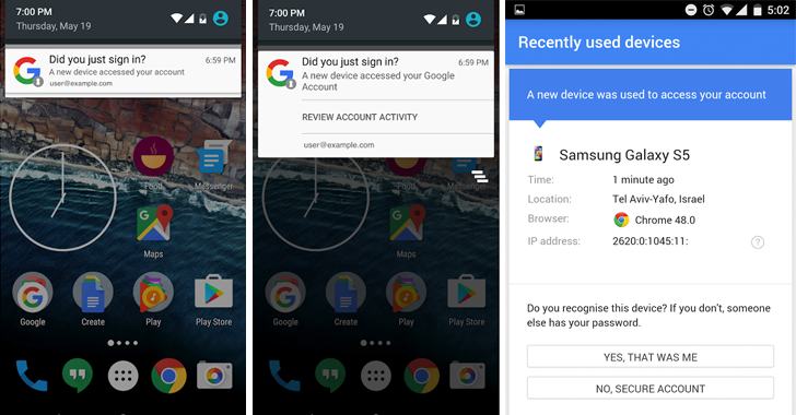 Android Will Alert You When A New Device Logs-in Your Google Account