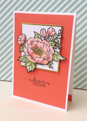 Stampin' Up! Birthday Blooms card by Kathryn Mangelsdorf