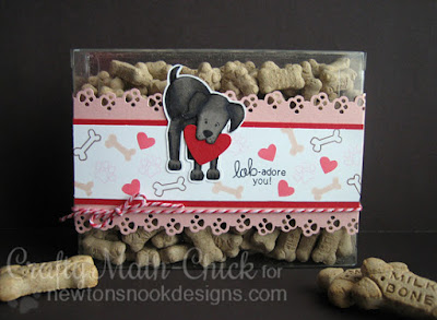 Lab-Adore Clear Valentine Biscuit Box by Crafty Math Chick | Fetching Friendship by Newton's Nook Designs