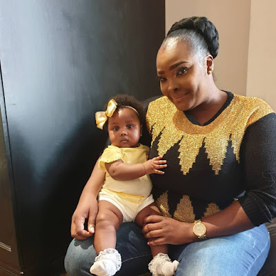 Ronke Odusanya and daughter photos