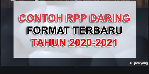 Download Contoh Rpp Daring 1 Lembar Terbaru T A 2020 2021