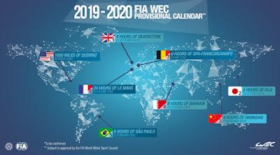 WEC Provisional Calendar 2019-2020 Graphic