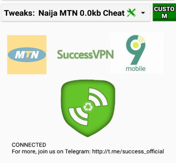 New MTN 0.0k Daily Free Browsing Cheat On SuccessVPN Lite