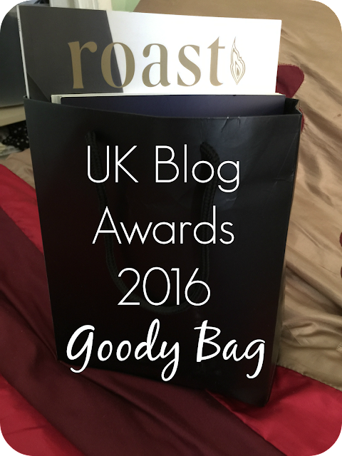 UK Blog awards 2016 goody bag