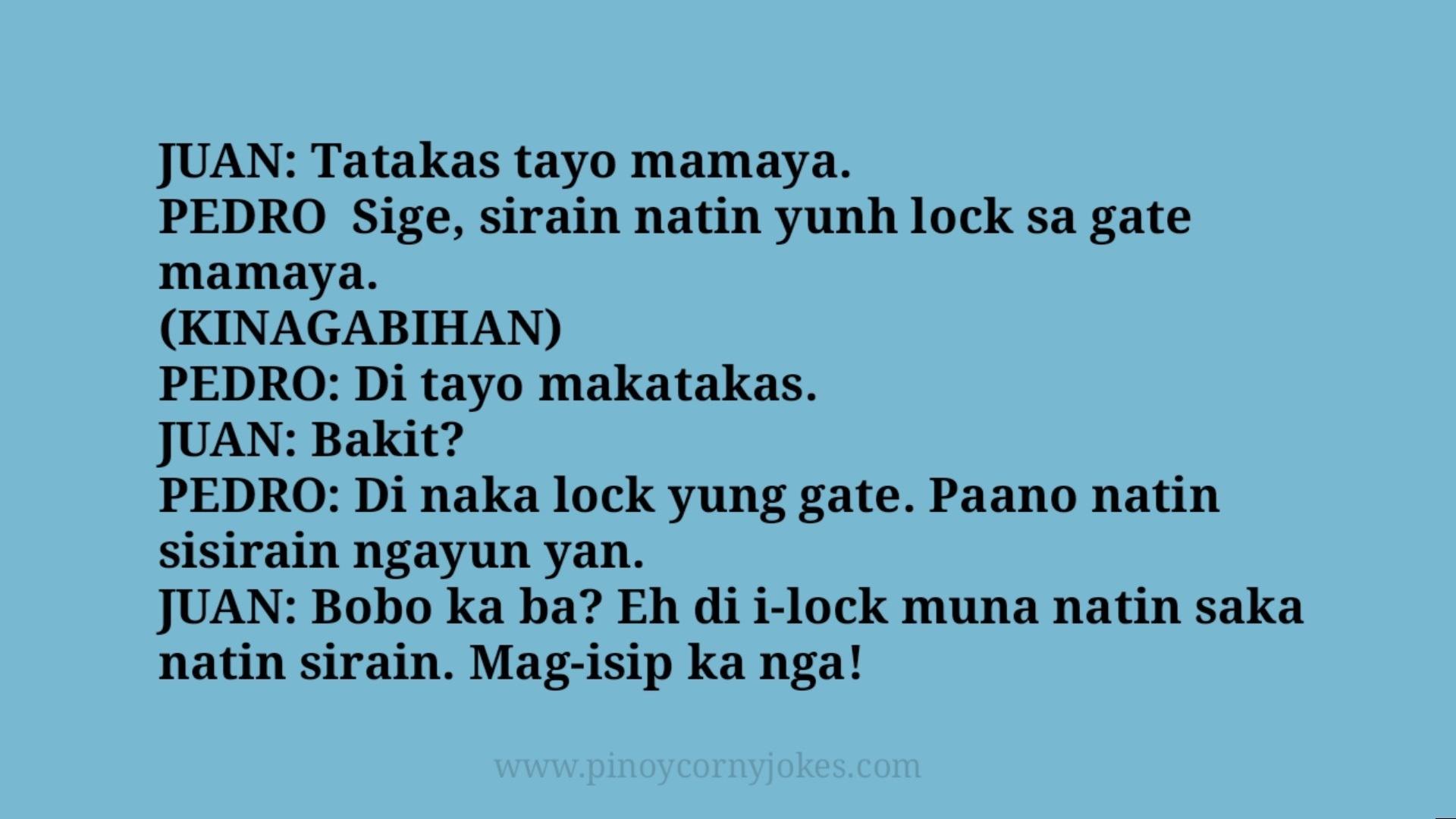 tatakas pinoy corny jokes tanga