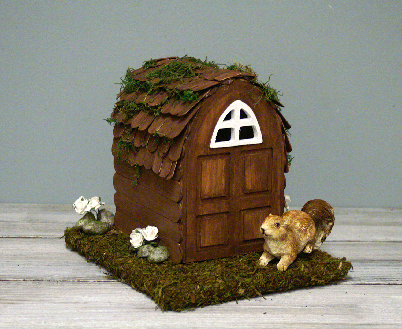 Ben franklin crafts and frame shop diy fairy house for Diy fairy house door