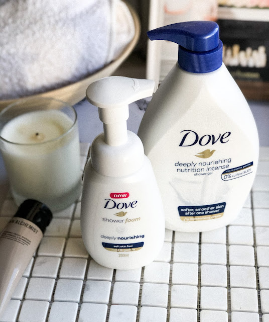 гель и пенка для душа Dove Deeply Nourishing