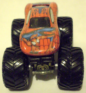 Front view of Monster Jam Spider-Man truck