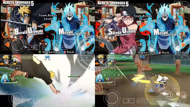 Naruto Shippuden Ultimate Ninja Storm 5 iso cso ppsspptexture savedata