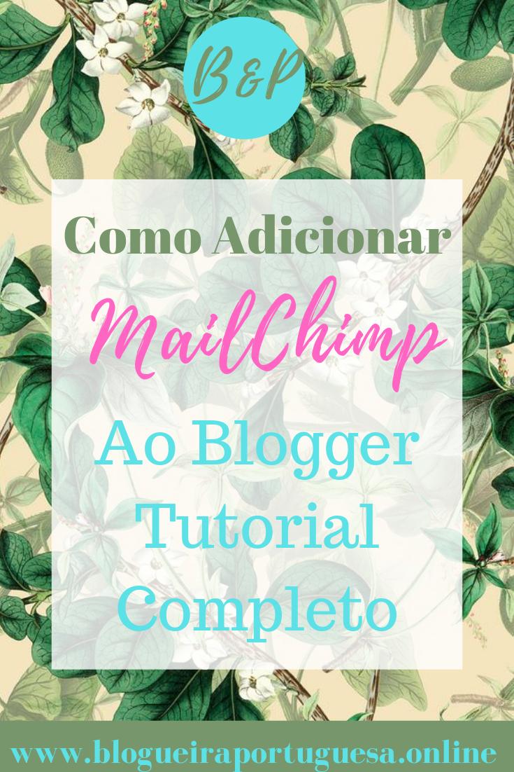 Adicionar o Mail-chimp ao Blogger