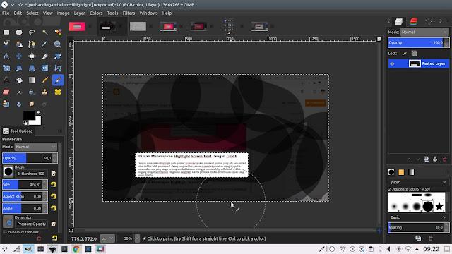 Cara Membuat Highlight Gambar Screenshoot Dengan GIMP