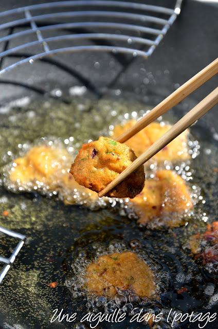 Beignets de lentilles épicés cuisine indienne